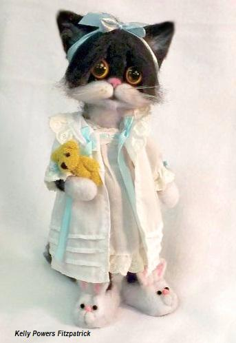 Artist: Kelly Powers Fitzpatrick , Needle Felted Cat